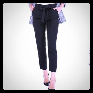 Express - High Waisted Paperbag Ankle Pant